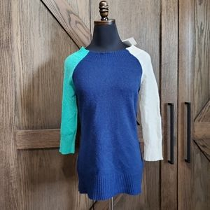NWT Minnie Rose Colorblock Cashmere Sweater